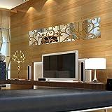 ウォールステッカー TangQI 新しい 壁 ステッカー移し 絵鳥 フェザーベッド ルーム 家 壁芸術 装飾
