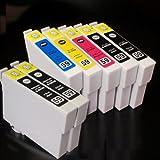 【むさしのメディアオリジナル】 エプソン互換 IC5CL59+BK2 5色+黒2個インクカートリッジ ICチップ(残量表示機能)付き [フラストレーションフリーパッケージ(FFP)]