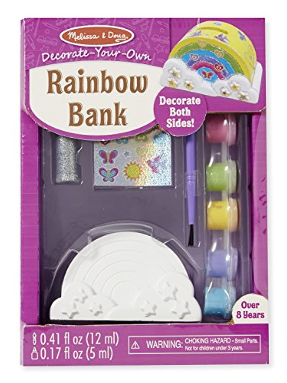 Melissa & Doug decorate-your-ownレインボーBankクラフトキット