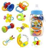 ベビー赤ちゃんおしゃぶり&ラトル - 9点 セットラトル ガラガラ なめかみ 歯固め玩具と貯金箱 出産お祝い
