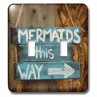 3drose 2LSP _ 256173_ 2イメージのキュートSign Says Mermaidsこのway-double切り替えスイッチ