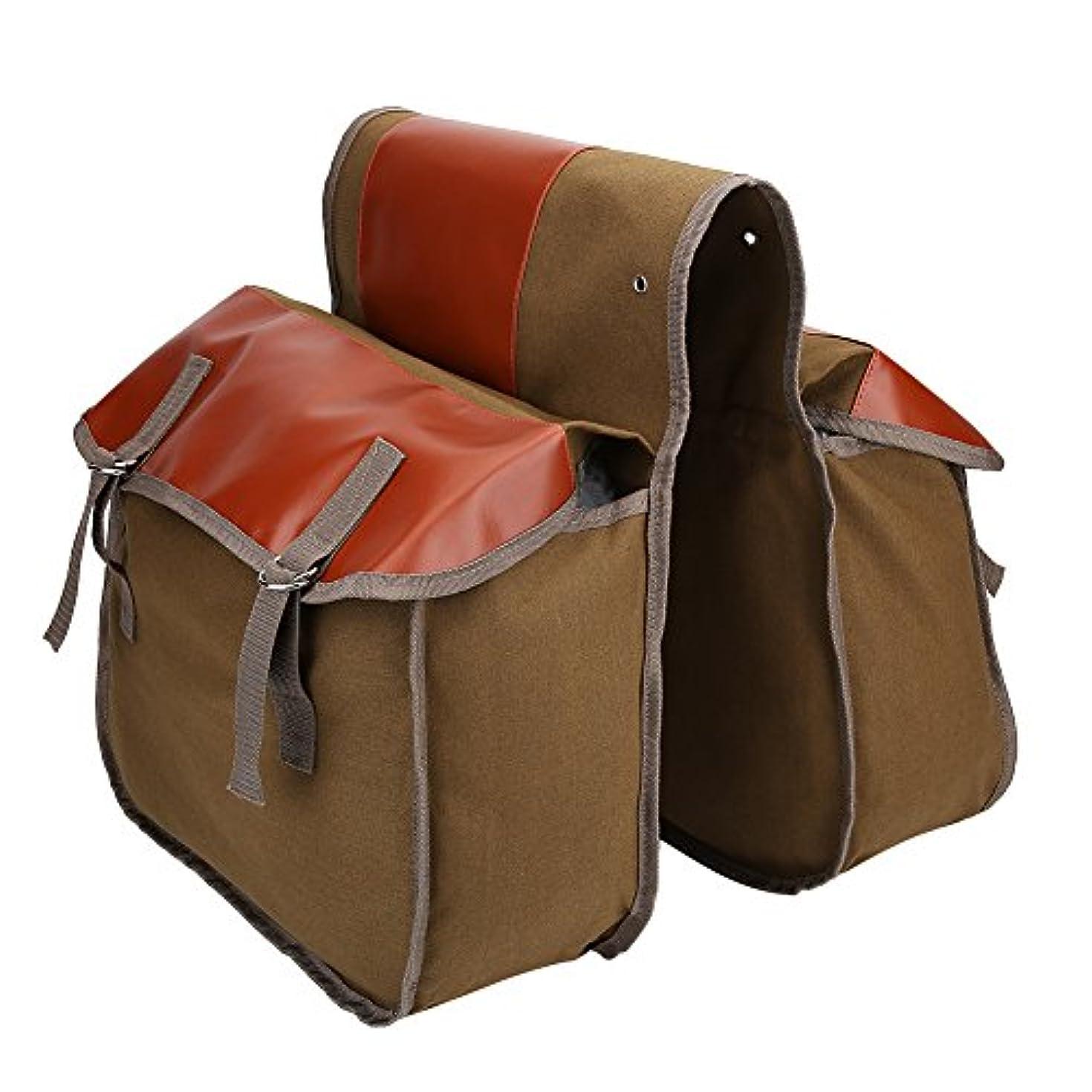 人ディプロマ達成するリアバッグ 自転車バッグ 自転車サイドバッグ フレームバッグ 両側 収納 大容量 簡単装着 キャンバス サドルバッグ