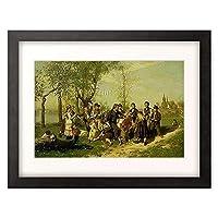 Malmstrom, August,1829-1901 「Kinder beim Spiel.」 額装アート作品
