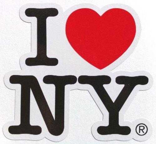 ステッカーI Love NY 縁取りタイプ 防水紙シール