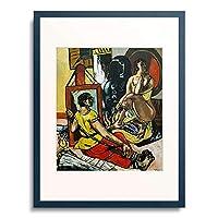 マックス・ベックマン 「Triptych: The Temptation (of St. Anthony). Centre panel. 1936/37」 額装アート作品