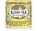 (KUSMI TEA) クスミティー ジャスミン グリーンティー モスリン ティーバッグ 2.2g×20袋入り [正規輸入品]