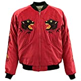 TAILOR TOYO(テーラー東洋)SOUVENIR JACKET(別珍スカジャン)『Black Tiger ×Japan Map』TT13839-165 Red/White M