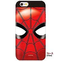 [Marvel Card Bumper マーベル カード バンパーケース] スマホケース iPhoneX iPhone10 iPhone8 iPhone8plus iphone7 iphone7plus iPhone X 10 7 8 plus プラス iPhone アイフォン X 8 7 収納 スパイダーマン Spider Man (【iphone X】, フェース) [並行輸入品]