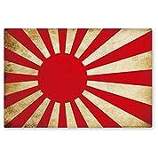 NEW 国旗ステッカー(アンティークタイプ) 旭日旗 LLサイズ 再帰反射 耐水 日本 海上自衛隊 旭日旗(ア) LL