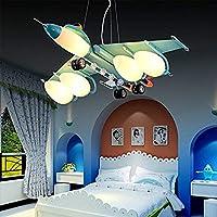 LiL ランプ 航空機のライト子供の部屋のライトの男の子の寝室のライトベッドルームライト漫画の子供の鉄のガラスランプ A++ (色 : B)