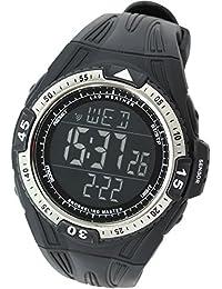 【LAD WEATHER】ダイバーズ デジタル腕時計 100m防水 シュノーケリング/ダイビング 水温/潜水時間/水圧/水深 スポーツ時計
