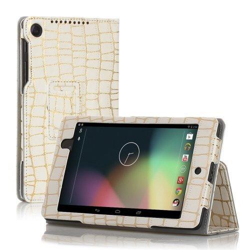 TNP Google Nexus 7FHD 2nd Gen Case–スリムフィット合成レザーフォリオケーススタンドwithスマートカバー自動スリープ・ウェイク機能とスタイラスホルダーfor Googleネクサス27.0インチ2013タブレット 7 Inch