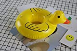 コースター フロート  浮輪  ドリンク カップ 可愛い黄ガモ 6点セット