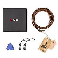 CANPIS カメラ ネック ストラップ カメラストラップ 可動式パッド付きレザーカメラネックショルダーストラップ ユニバーサルカメラ用 迷彩CP003
