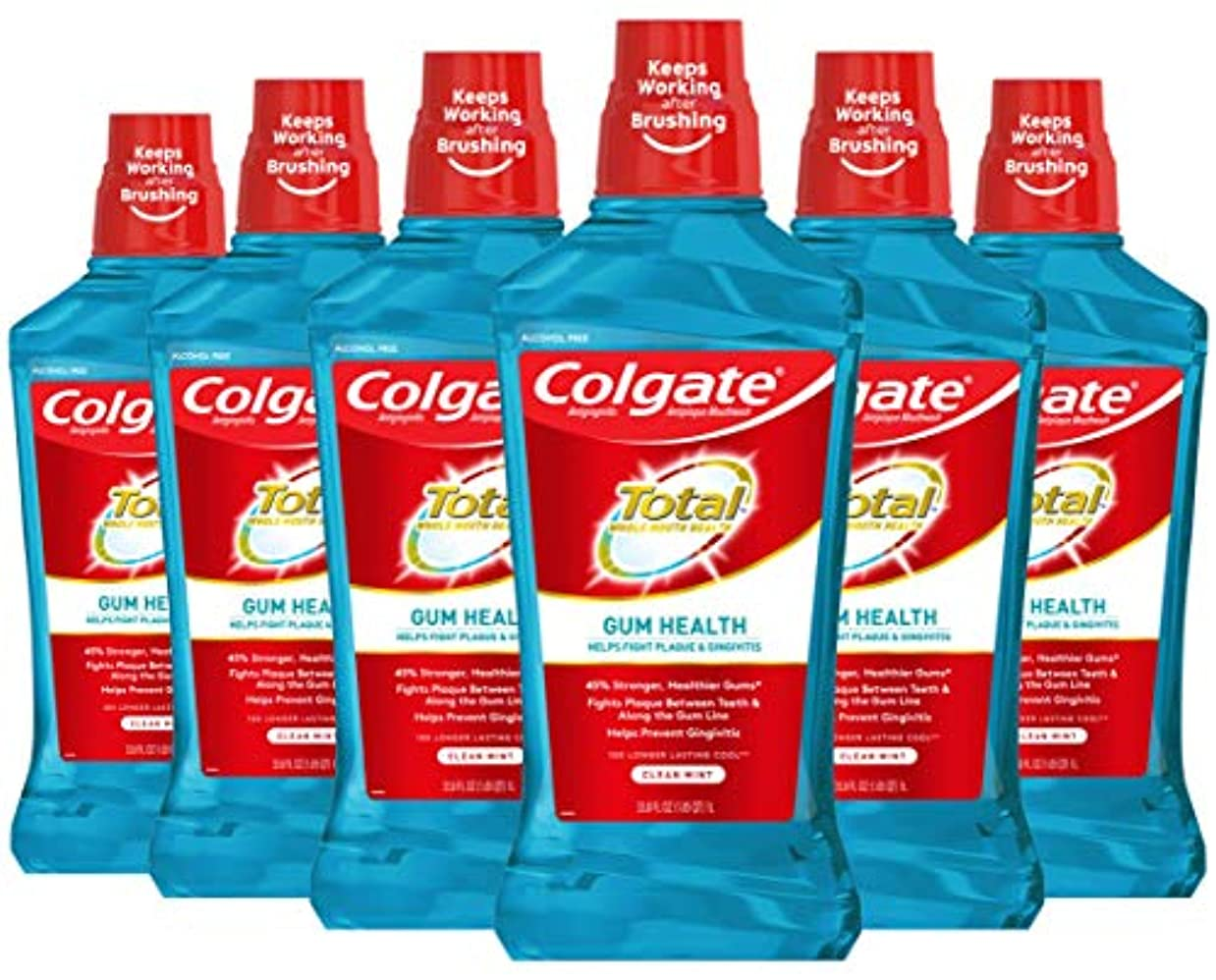 あらゆる種類の豆土砂降りColgate 1L(6パック) - ガム健康うがい薬、クリーンミントの合計