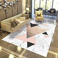 リビングルームラグ、フランネル現代のミニマリストの3Dプリントリビングルームコーヒーテーブルベッドルームベッドサイドカーペット子供クロールマット,H,160*230cm