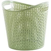 プラスチック製のトイレ洗濯バスケットバスルーム洗濯用収納バスケット汚れた服のおもちゃの収納バスケット (色 : B)