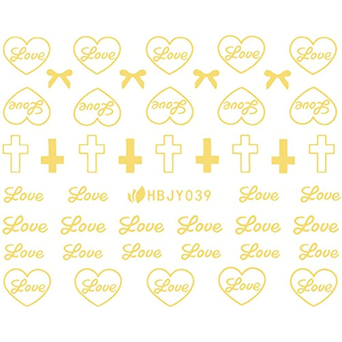 ネイルシール アルファベット 文字 ブラック/ホワイト/ゴールド/シルバー 選べる80種 (ゴールドGP, 11)