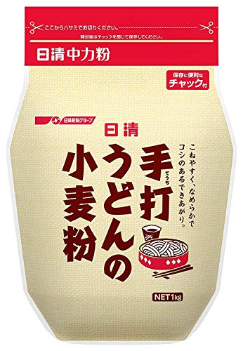 日清 手打ちうどんの小麦粉 チャック付 1kg