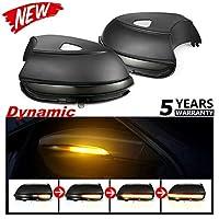 リア ビュー ミラー ダイナミック ウインカー LED ライト インジケーター for  フォルクスワーゲンCCゴルフパサートビートルポロシロッコラマンドスポーツバントゥーラン Volkswagen CC Golf Passat Beetle Polo Scirocco Lamando Sportsvan Touran (Beetle A5 Scirocco MK3 2011-2019 LBF620)