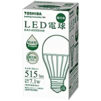 東芝 LED電球 E-CORE  40W相当 昼白色相当 調光器対応 LDA7N/WD LDA7N/WD  口金直径26mm