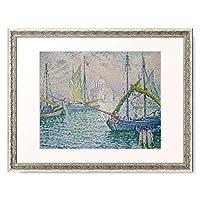 ポール・シニャック 「Venice with sailboats (Le Redempteur). 1908」 額装アート作品