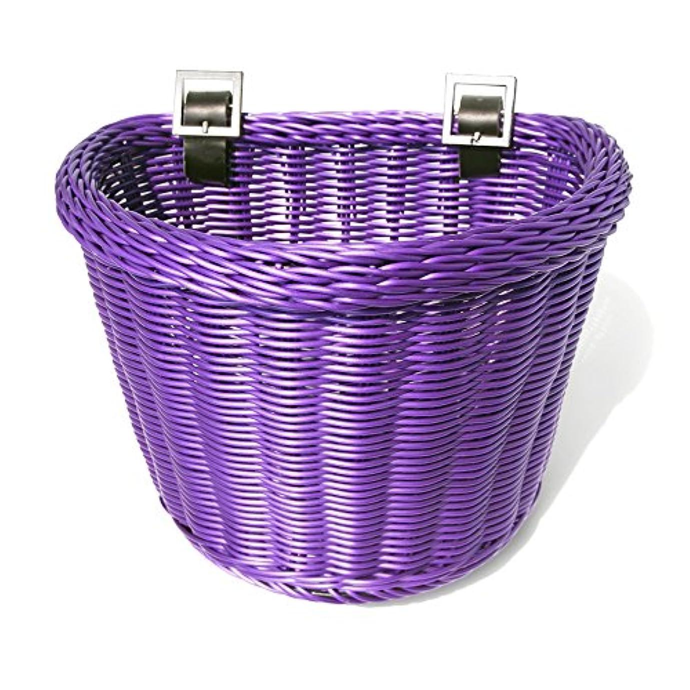 保護腐敗した単なるColorbasket 02195 Junior Front Handlebar Bike Basket, Purple by Colorbasket
