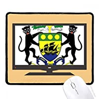 ガボンアフリカはヨーロッパの国家エンブレム マウスパッド・ノンスリップゴムパッドのゲーム事務所