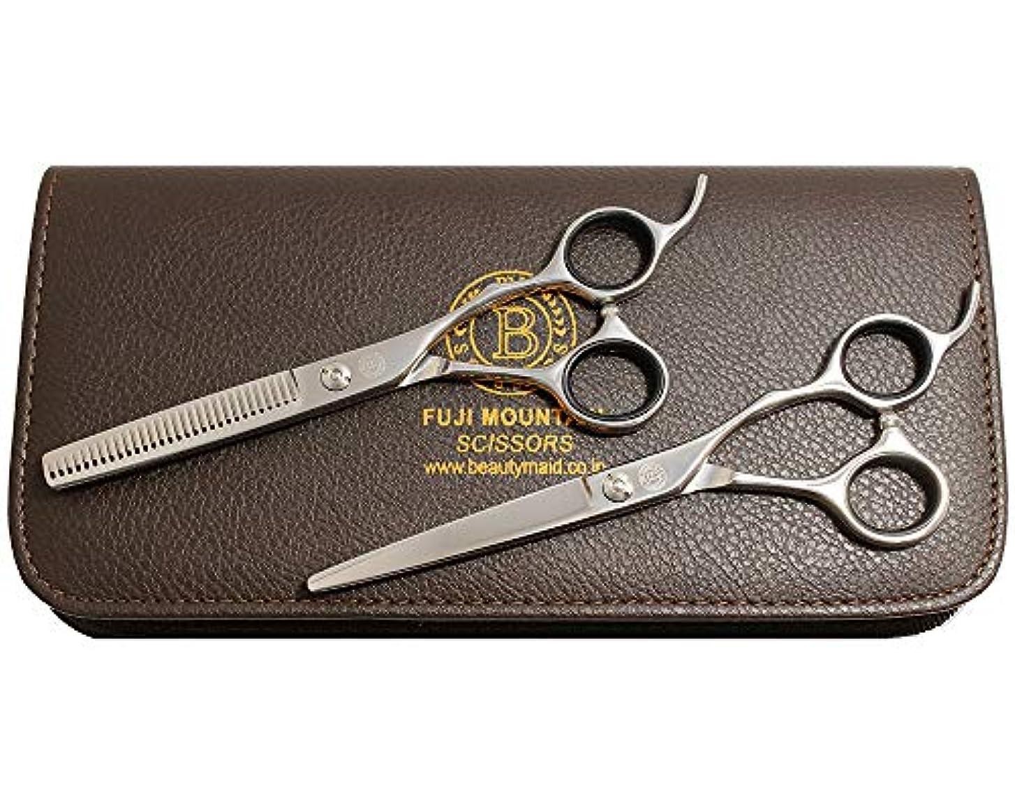 重要な役割を果たす、中心的な手段となるヒゲ財産富士山 シザー カットシザー セニングシザー 2丁セット プロ仕様 美容 ハサミ セニング スキバサミ 散髪 はさみ CR-60