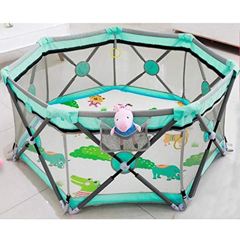 コイルガイドラインようこそDNSJB 赤ちゃん屋内ゲームクロールマットフェンス赤ちゃんフェンス子供ホーム幼児折りたたみ安全フェンス
