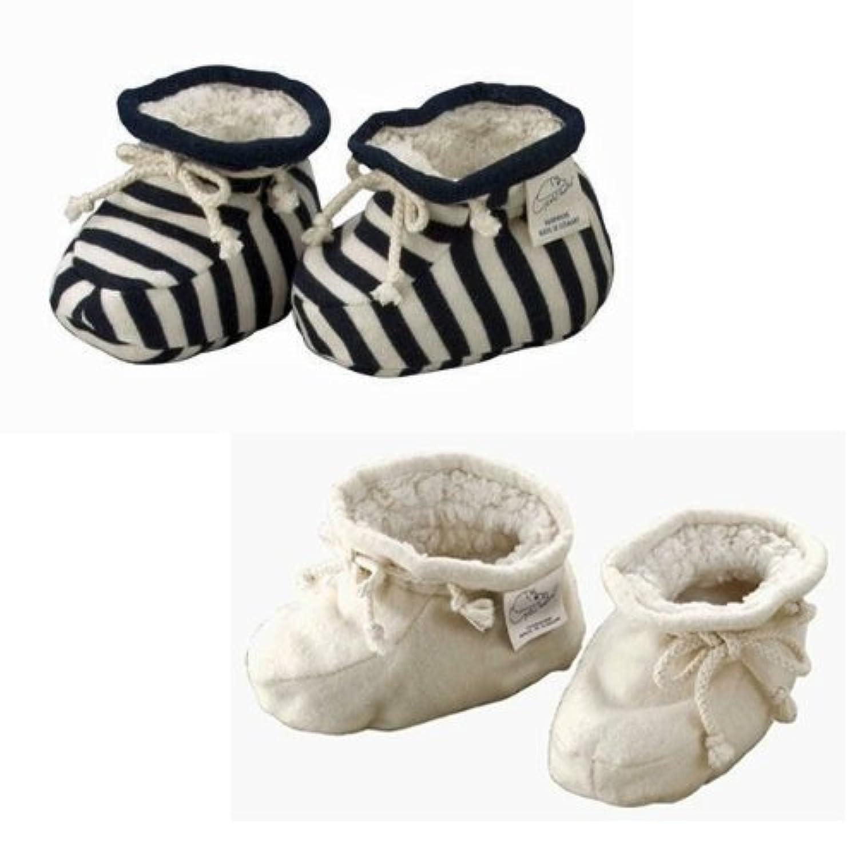 オーガニックコットン ベビーシューズ/Baby shoes plu natur オフホワイト