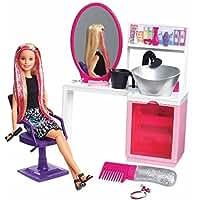 バービー人形 スパークル スタイルサロン&ブロンドドール プレイセット Barbie Sparkle Style Salon & Blonde Doll Playset