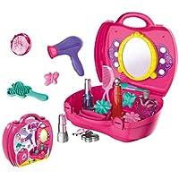 Tivolii キッズ トイ スーツケース 女の子 美容化粧玩具セット 鏡付き ごっこ遊び 3歳以上の女の子用