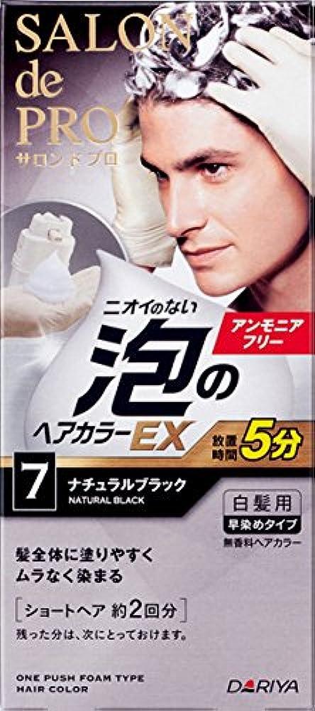 役員リース外科医サロン ド プロ 泡のヘアカラーEX メンズスピーディ (白髪用) 7 <ナチュラルブラック> 1剤:40g+2剤:40g [医薬部外品]