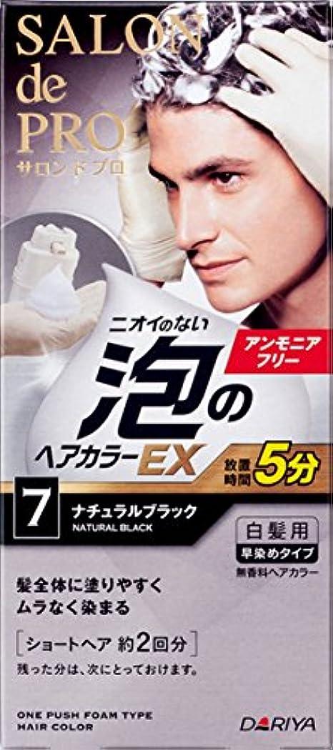 柔らかい足優雅ガイドサロン ド プロ 泡のヘアカラーEX メンズスピーディ (白髪用) 7 <ナチュラルブラック> 1剤:40g+2剤:40g [医薬部外品]
