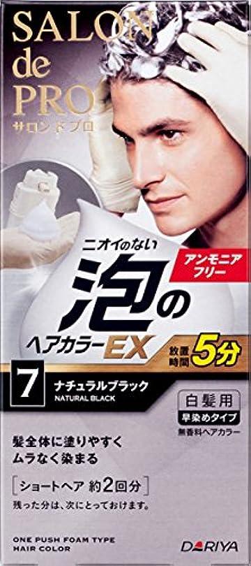 なんとなく扇動伝導率サロン ド プロ 泡のヘアカラーEX メンズスピーディ (白髪用) 7 <ナチュラルブラック> 1剤:40g+2剤:40g [医薬部外品]