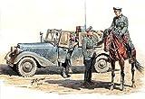マスターボックス 1/35 ドイツ通信兵4体&乗馬+小型無線通信車170V