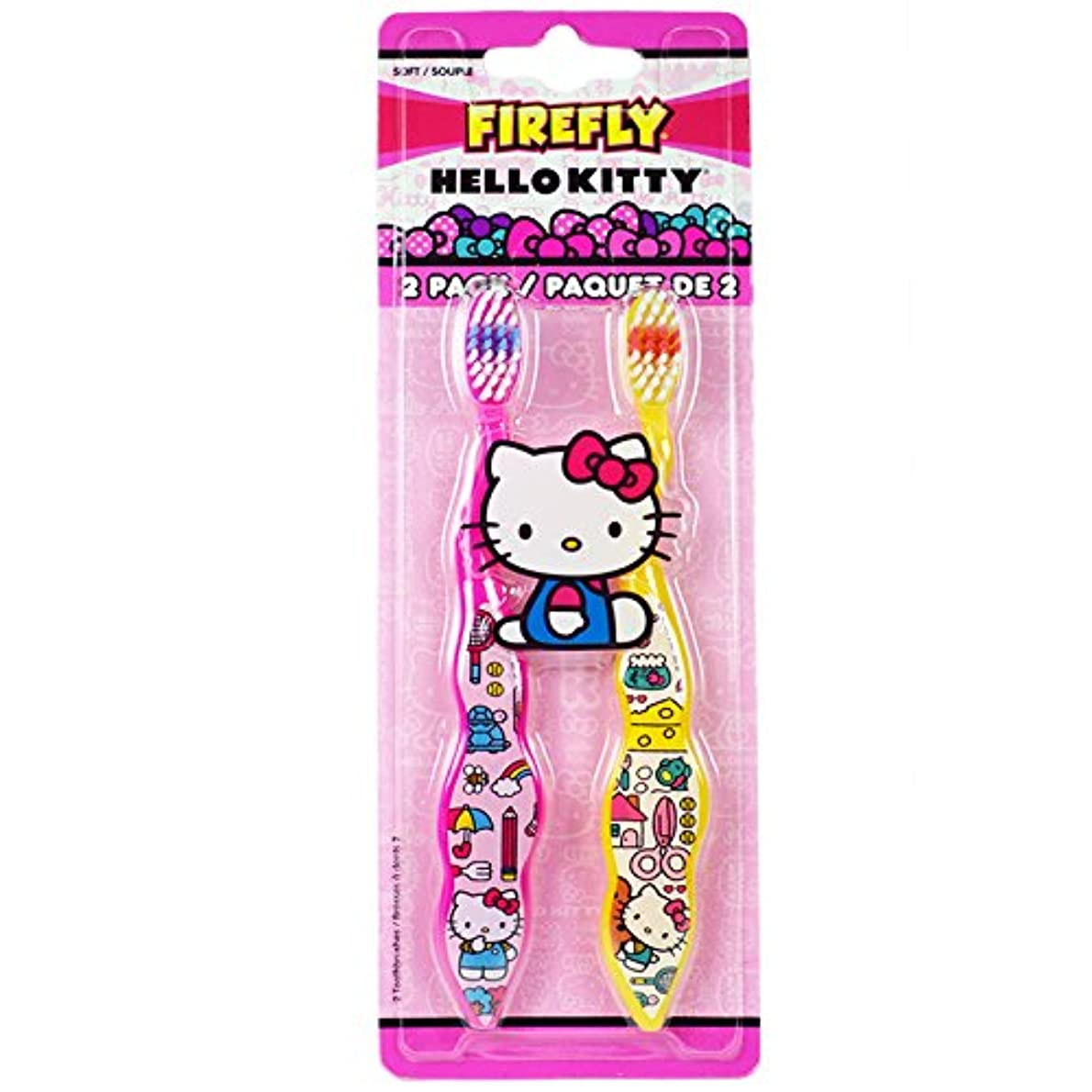 ツインベーシックマイクDr. Fresh Firefly Hello Kitty Toothbrush, Soft by Firefly