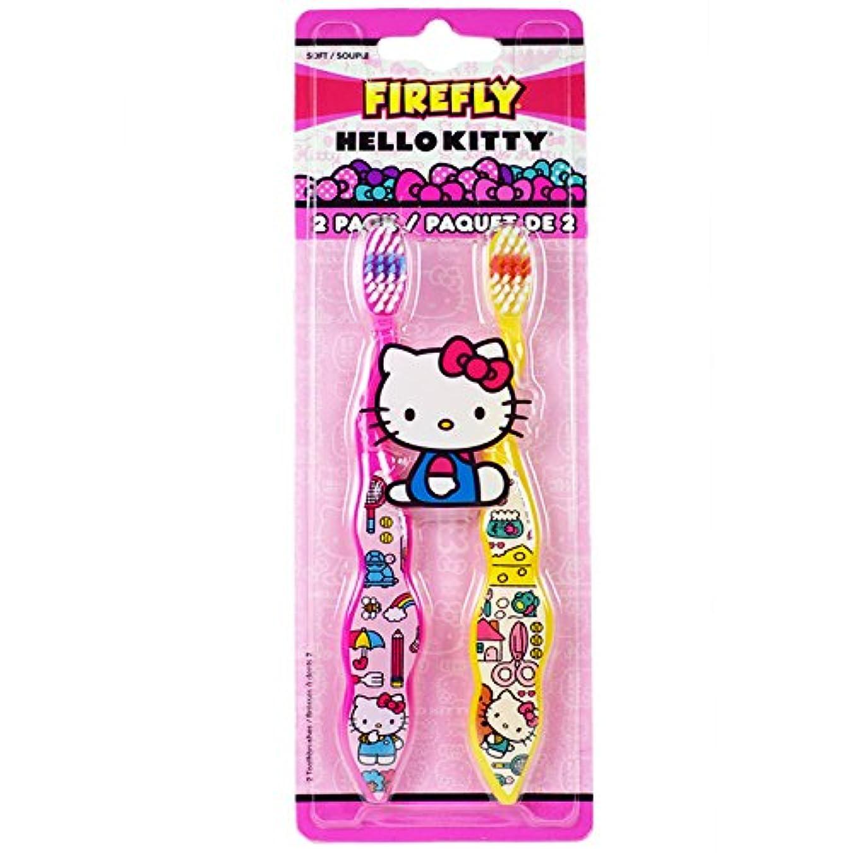 ペパーミント封建前部Dr. Fresh Firefly Hello Kitty Toothbrush, Soft by Firefly