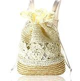 GrandRover 巾着 リュック サック ふんわり かご編み リゾートバッグ