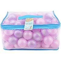 Lightaling 100個 ピンク & パープル オーシャンボール & ピットボール 2.28インチ ソフトプラスチック フタル酸エステル& BPAフリー 耐クラッシュ性 - 再利用可能で丈夫なメッシュバッグ ジッパー付き