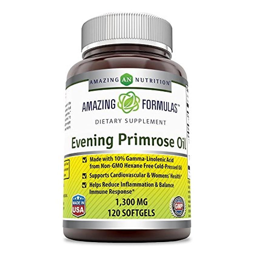 手錠懺悔故意のAmazing Formulas Evening Primrose Oil 1300 Mg 120 Softgels - High Potency- Made with 10% Gamma Linoleic from Non-GMO...