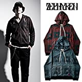 ZEPHYREN ゼファレン SUBLIMATION ZIP PARKA パーカー M BLACK-PAISLEY