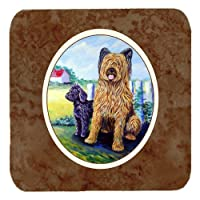 Caroline 's Treasures 7092 FC Briard Foam Coasters ( Set of 4 )、3.5インチ、マルチカラー