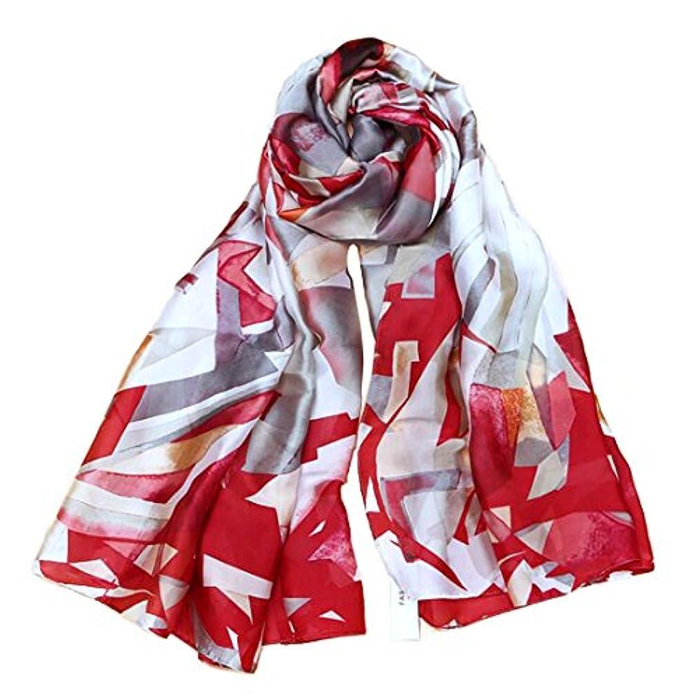 救出常習的放射能Exonlyone 女性のためのシルクスカーフラージサテンのヘッドスカーフファッションパターンラップショールスカーフ