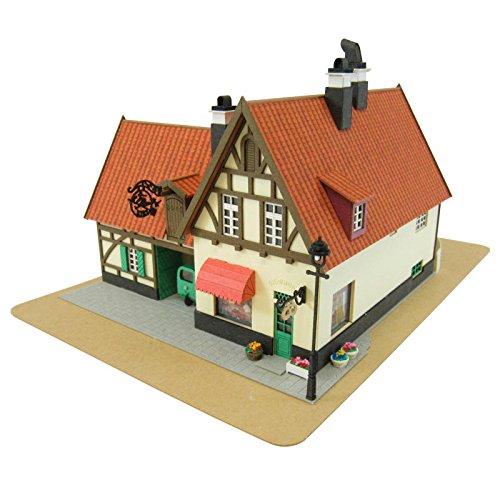 스튜디오 지브리 시리즈 마녀의 택배 키키 초키판점 1/150스케일 종이공예 MK07-02-MK07-02