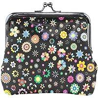 がま口 財布 口金 小銭入れ ポーチ 花 柄 小さい Jiemeil バッグ かわいい 高級レザー レディース プレゼント ほど良いサイズ
