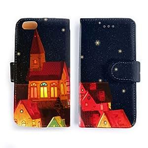 iPhone7 ケース 手帳型 絵本のような街星空/宇宙コレクション おしゃれ シンプル かっこいい アイフォン カバー スマホケース アイホン A228-7