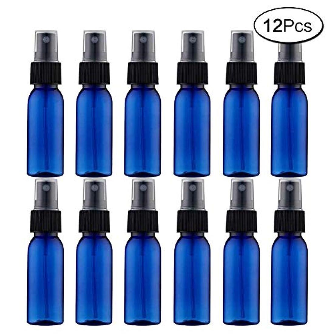 物理的に最も貸し手スプレーボトル 12本セット 詰替ボトル 遮光 空容器 霧吹き(30ml ブルー)