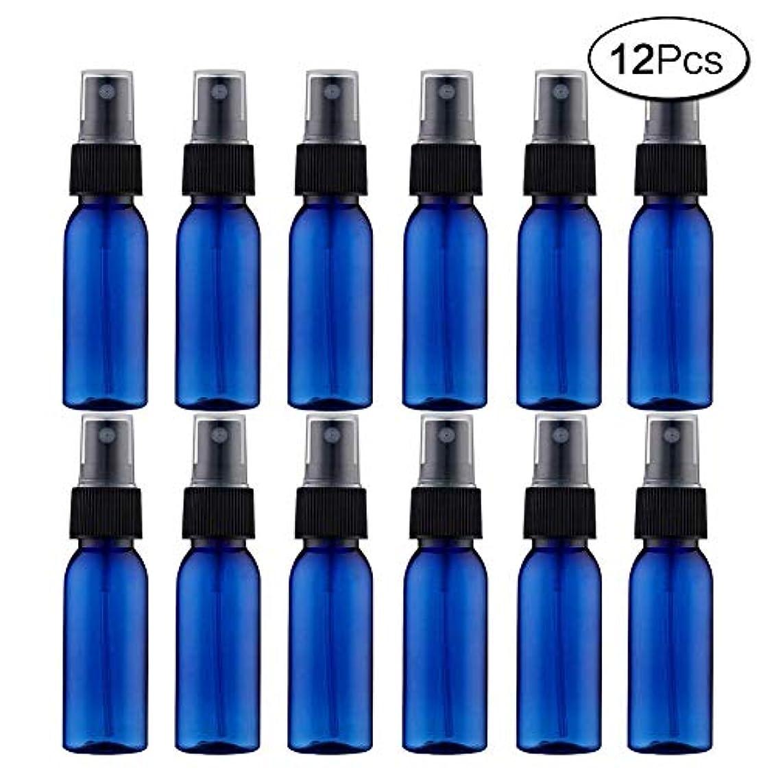 利益葉巻珍味スプレーボトル 12本セット 詰替ボトル 遮光 空容器 霧吹き(30ml ブルー)